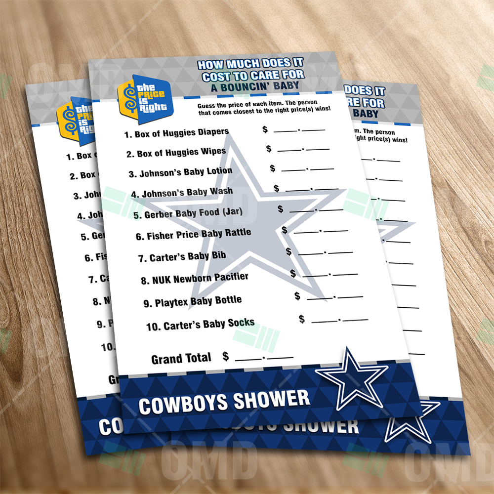 Dallas Cowboys Price Is Right Game Product 1