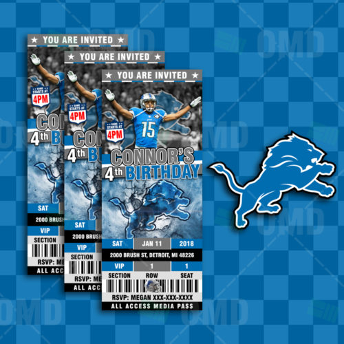Detroit Lions - Invite 2 - Product 1