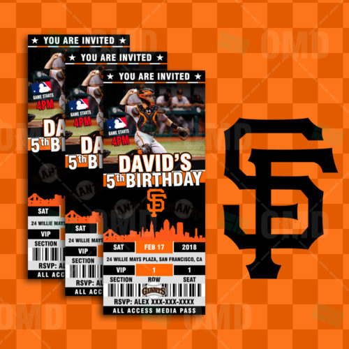 San Francisco Giants Baseball - Invite 2 - Product 1