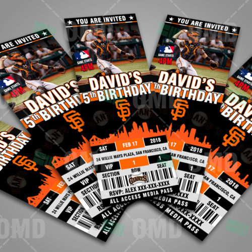 San Francisco Giants Baseball - Invite 2 - Product 3