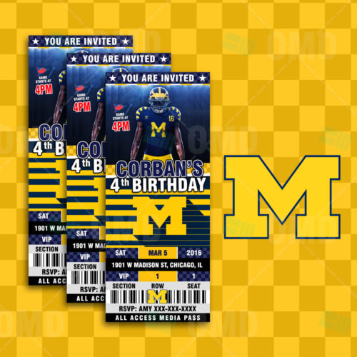 Michigan Wolverines - Invite 2 - Product 1