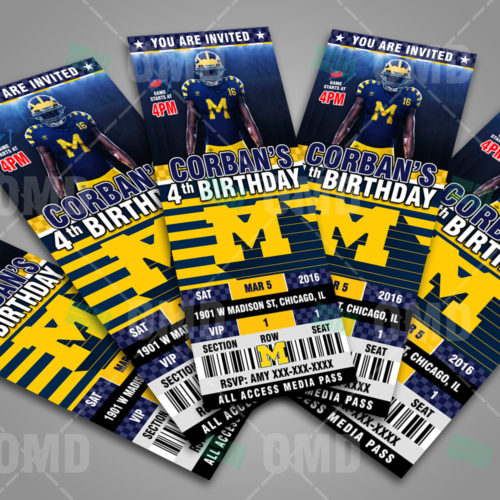 Michigan Wolverines - Invite 2 - Product 3