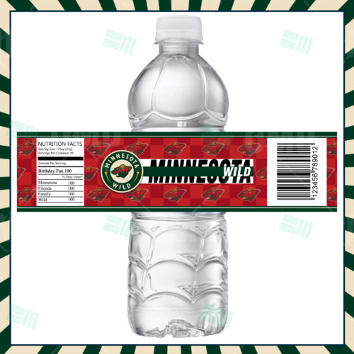 Minnesota Wild - Bottle Label - Product 1