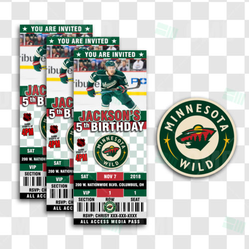 Minnesota Wild - Invite 2 - Product 1