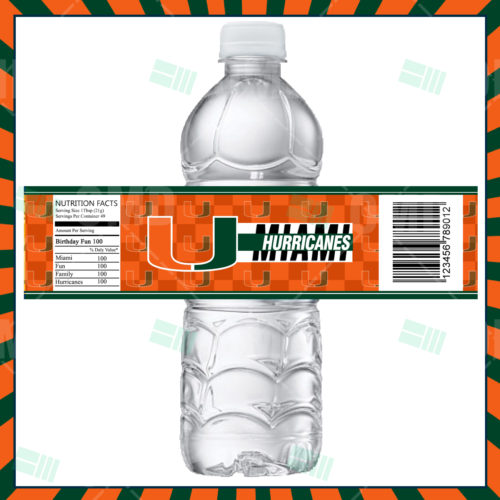 Miami Hurricanes - Bottle Label - Product 1