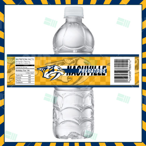 Nashville Predators - Bottle Label - Product 1