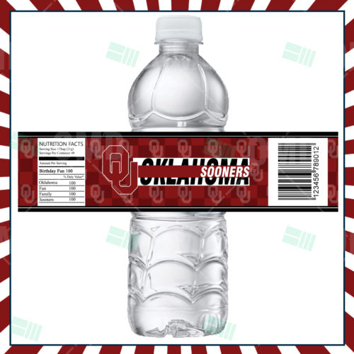 Oklahoma Sooners - Bottle Label - Product 1