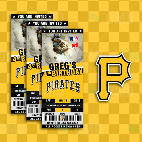 Pittsburgh Pirates - Invite 3 - Product 1