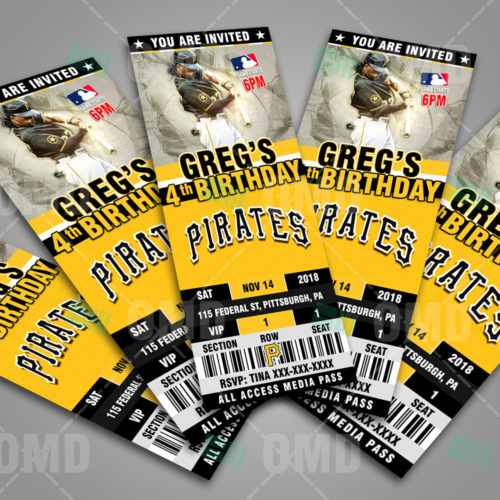 Pittsburgh Pirates - Invite 3 - Product 3