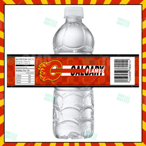 Calgary Flames - Bottle Label - Product 1