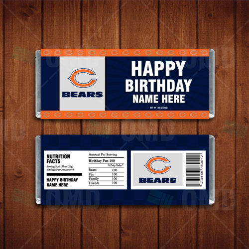Chicago Bears - Candy Bar 1 - Product 1