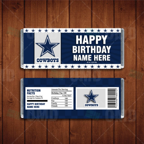 Dallas Cowboys - Candy Bar 1 - Product 1