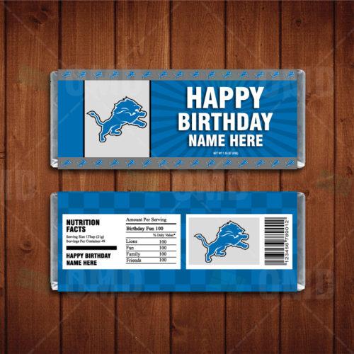 Detroit Lions - Candy Bar 1 - Product 1