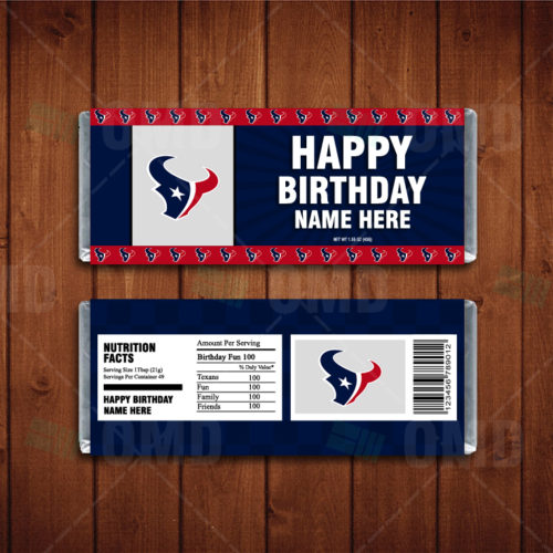 Houston Texans - Candy Bar 1 - Product 1