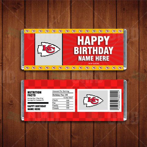 Kansas City Chiefs - Candy Bar 1 - Product 1