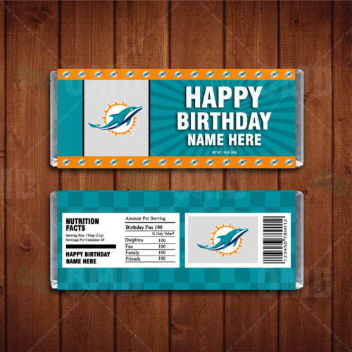 Miami Dolphins - Candy Bar 1 - Product 1