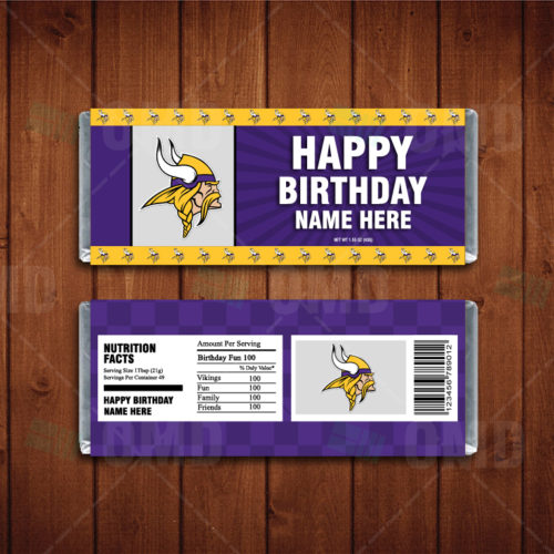 Minnesota Vikings - Candy Bar 1 - Product 1