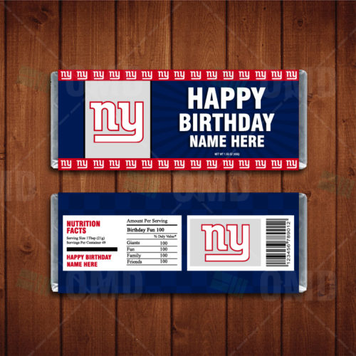 New York Giants - Candy Bar 1 - Product 1