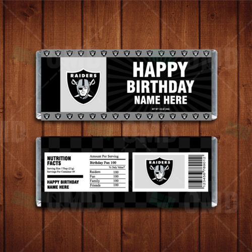 Oakland Raiders - Candy Bar 1 - Product 1