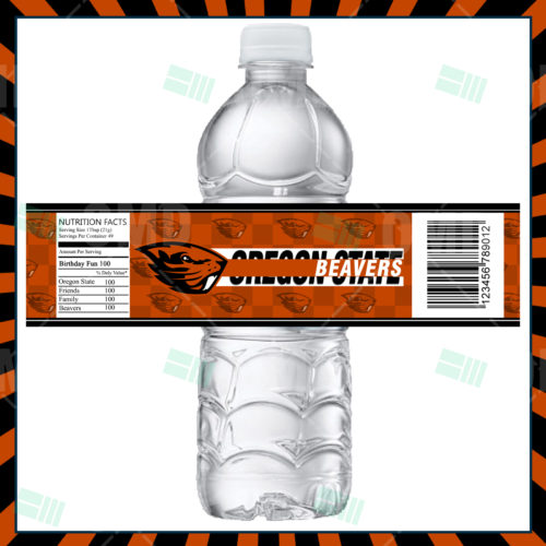 Oregon State Beavers - Bottle Label - Product 1