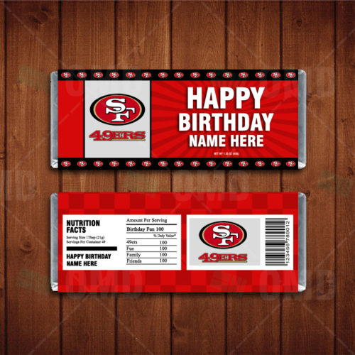 San Francisco 49ers - Candy Bar 1 - Product 1