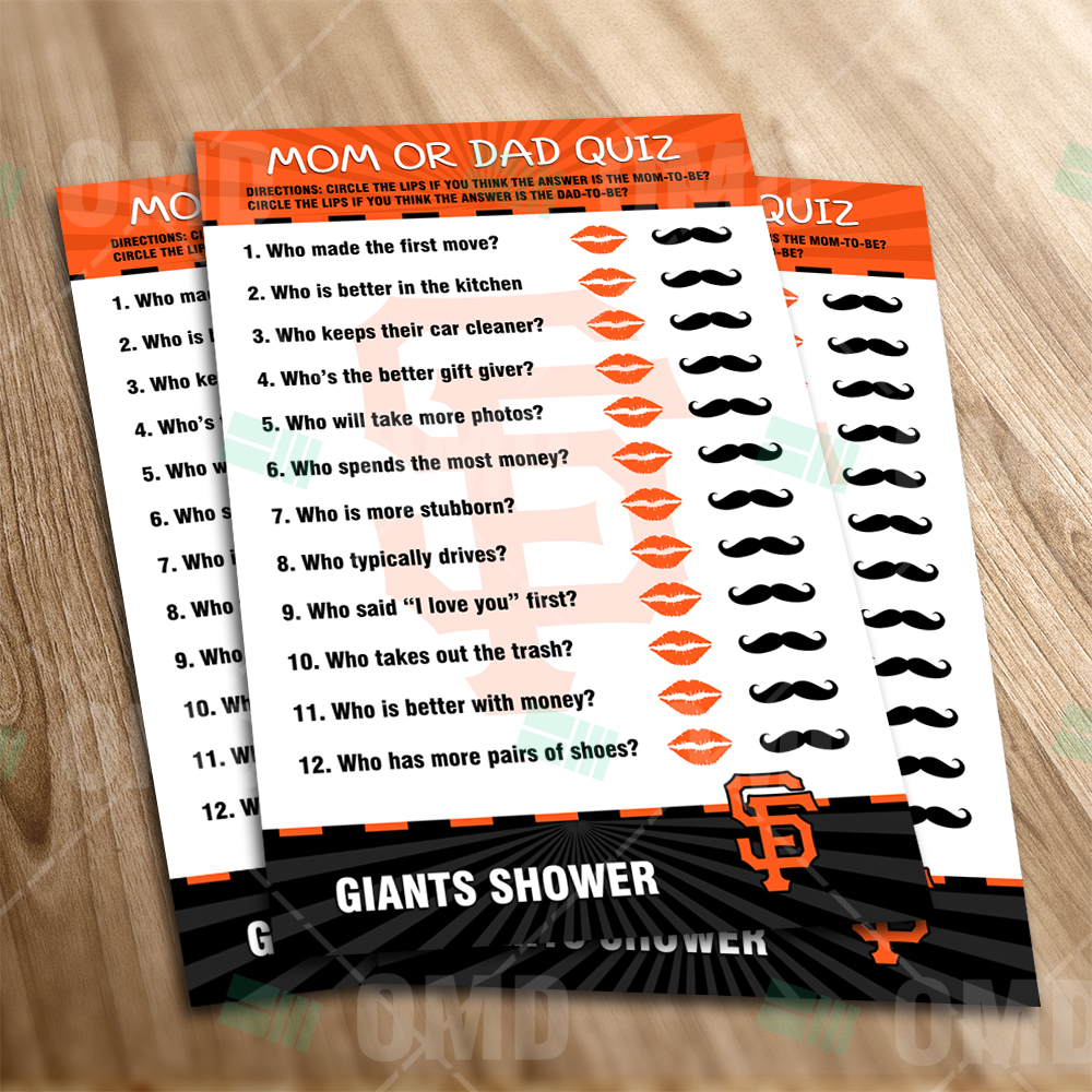 San Francisco Giants   Mom Dad Quiz   Game   Product 1 1
