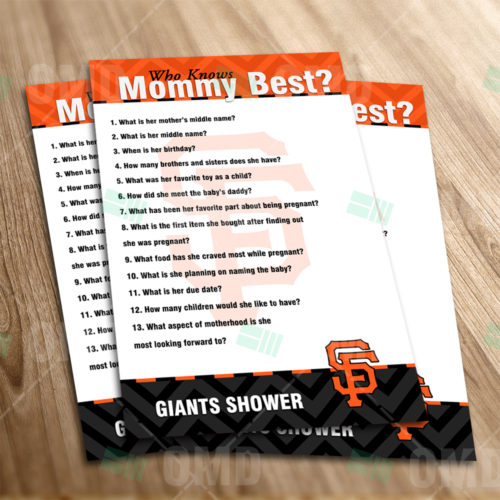 San Francisco Giants - Who Knows Mommy - Game - Product 1-1