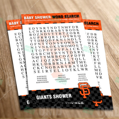 San Francisco Giants - Word Search - Game - Product 1-1