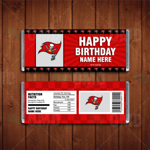 Tampa Bay Buccaneers - Candy Bar 1 - Product 1