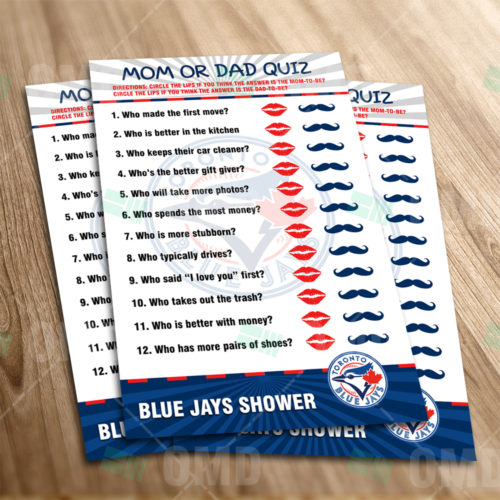 Toronto Blue Jays - Mom Dad Quiz - Game - Product 1-1