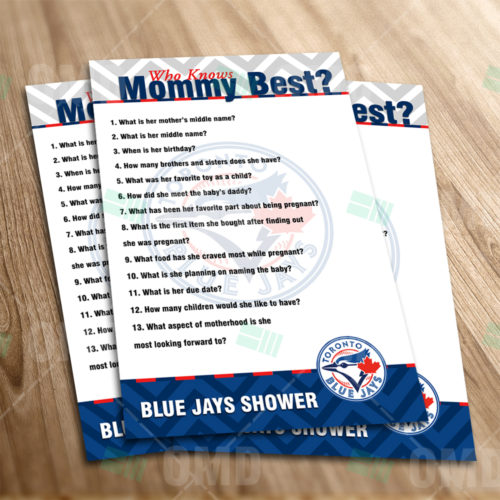 Toronto Blue Jays - Who Knows Mommy - Game - Product 1-1