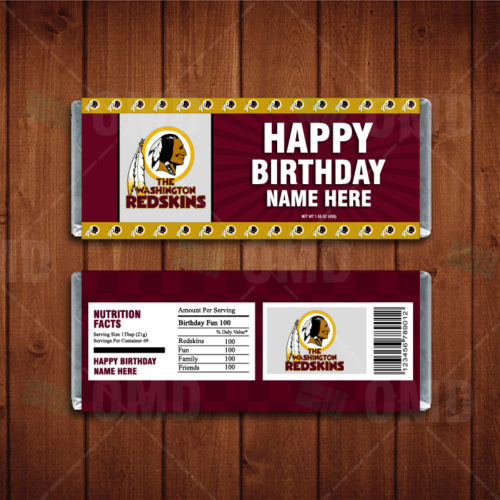 Washington Redskins - Candy Bar 1 - Product 1