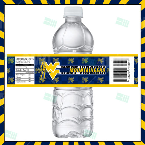 West Virginia Mountaineers - Bottle Label - Product 1