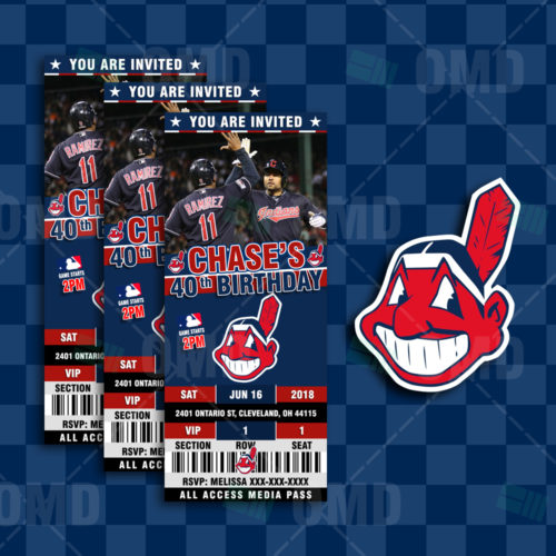 Cleveland Indians - Invite 2 - Product 1