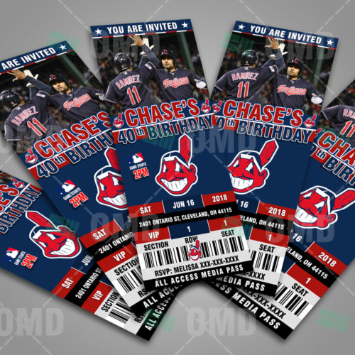 Cleveland Indians - Invite 2 - Product 3