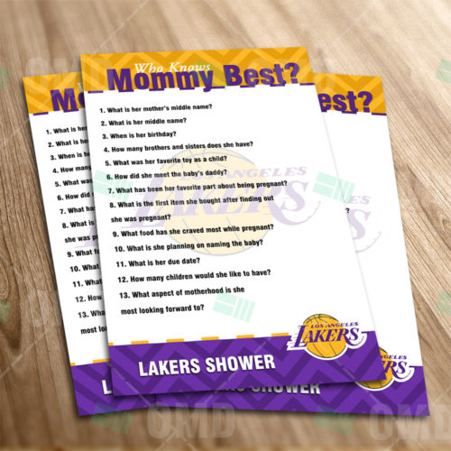 LA Lakers - Who Knows Mommy - Game - Product 1-1