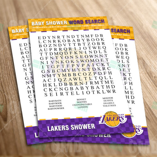 LA Lakers - Word Search - Game - Product 1-1