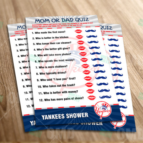 New York Yankees - Mom Dad Quiz - Game - Product 1-1