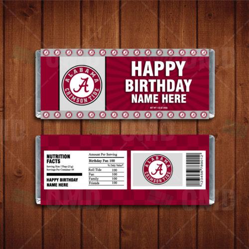 Alabama Crimson Tide - Candy Bar 1 - Product 1