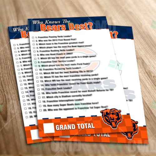 Chicago Bears - Trivia Game - Product 1