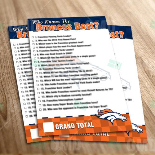 Denver Broncos - Trivia Game - Product 1