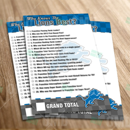 Detroit Lions - Trivia Game - Product 1