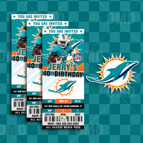 Miami Dolphins - Invite 2 - Product 1