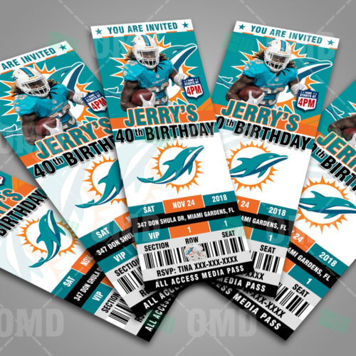 Miami Dolphins - Invite 2 - Product 3
