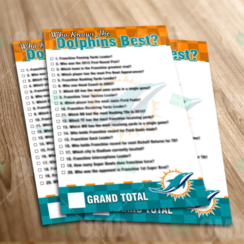 Miami Dolphins - Trivia Game - Product 1