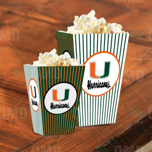 Miami Hurricanes - Popcorn Box - Product 1