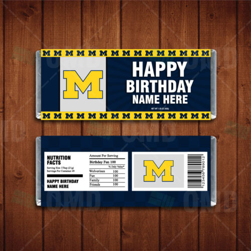 Michigan Wolverines - Candy Bar 1 - Product 1