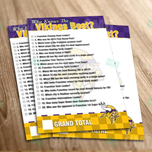 Minnesota Vikings - Trivia Game - Product 1