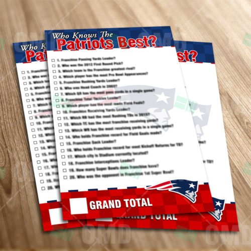 New England Patriots - Trivia Game - Product 1