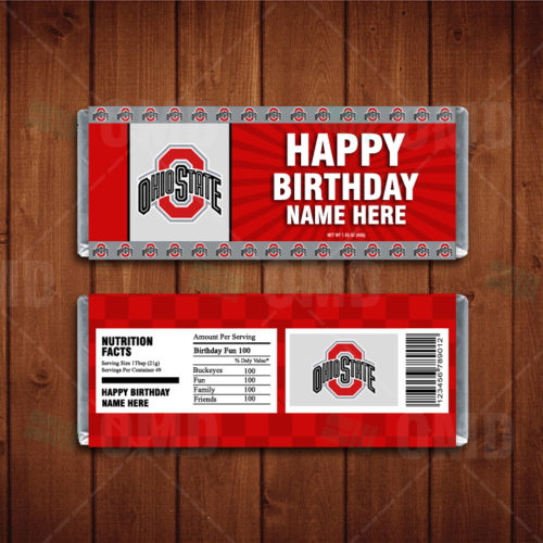 Ohio State Buckeyes - Candy Bar 1 - Product 1